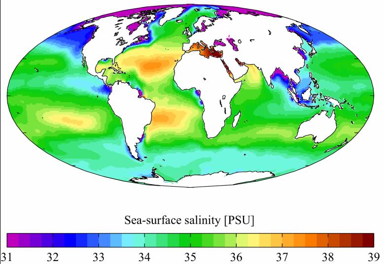 salinité des oceans